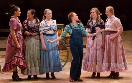 Cast from Oklahoma! in theater department